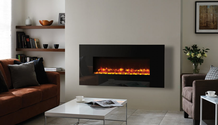 Radiance 100W Black glass 2 with pebble fuel bed mi 1