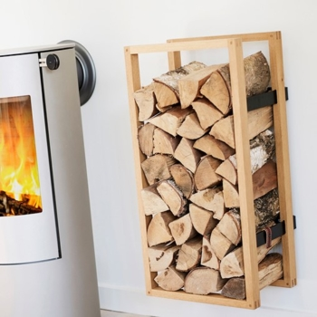 Woodframed Firewood Holder SQ