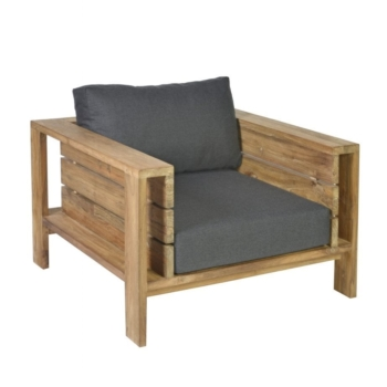 Borek teak Sevilla lounge chair Sq