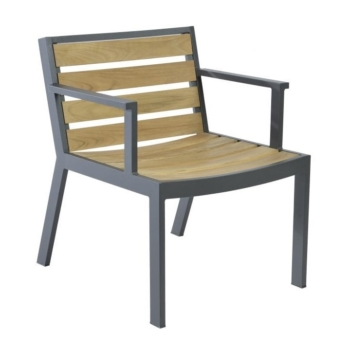 Borek teak alu Twisk chair Sq 1