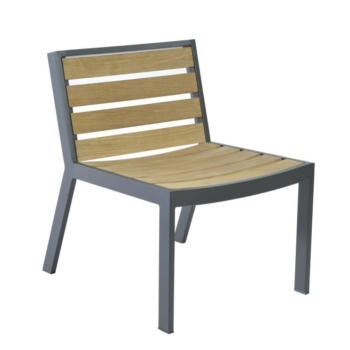 Borek teak alu Twisk chair without armrests Sq 1