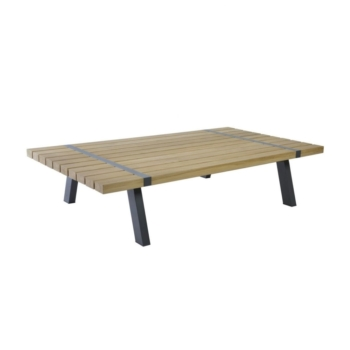 Borek teak alu Twisk coffee table Sq