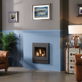 Logic HE Log effect with Designio2 Steel complete front in Graphite SQ